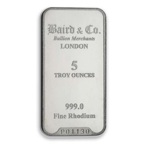 5oz Baird & Co Rhodium Minted Bar