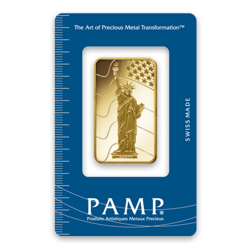 1oz PAMP Gold Bar - Liberty