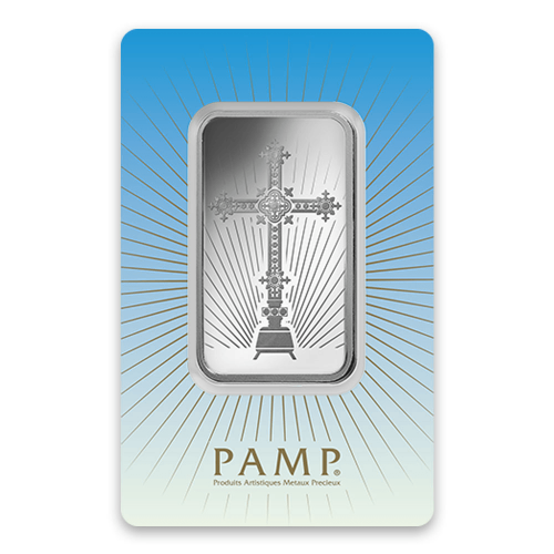 50g PAMP Silver Bar - Romanesque Cross