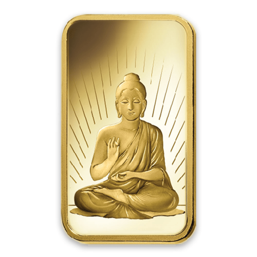 1oz PAMP Gold Bar - Buddha
