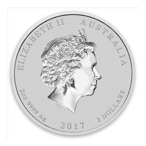 2017 2oz Australian Perth Mint Silver Lunar II: Year of the Rooster