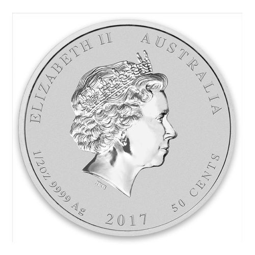 2017 1/2oz Australian Perth Mint Silver Lunar II: Year of the Rooster
