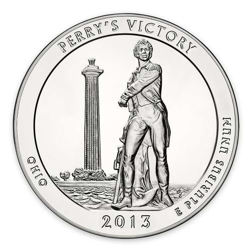 2013 5 oz Silver America the Beautiful Perry's Victory and Peace Park
