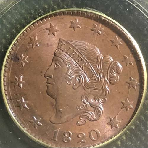 1820 Large Date RB PCGS MS-65
