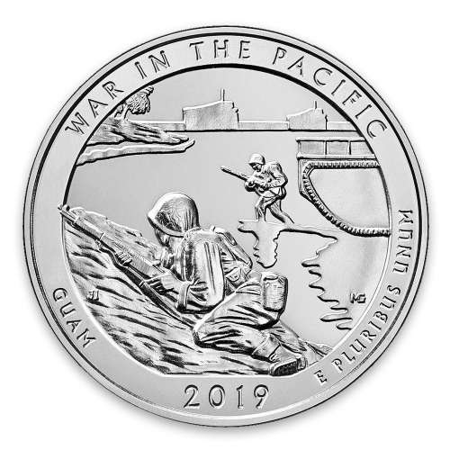 2019 5 oz Silver America the Beautiful War in the Pacific