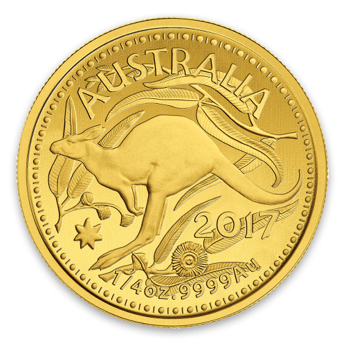 2017 Royal Australian Mint 1/4oz Kangaroo