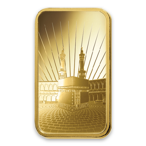 1oz PAMP Gold Bar - Ka `Bah. Mecca