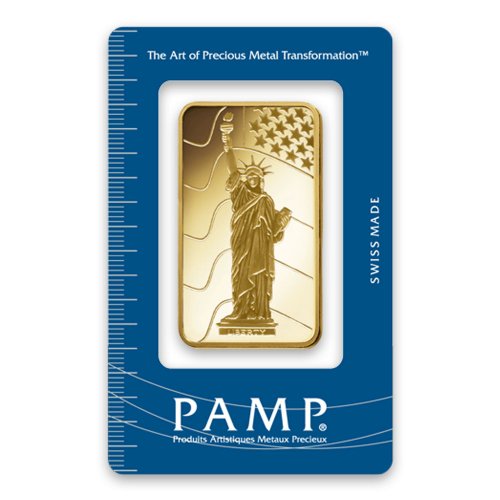 50g PAMP Gold Bar - Liberty