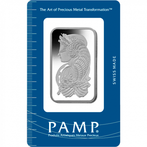 100g PAMP Platinum Bar - Fortuna