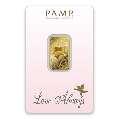 10g PAMP Gold Bar - Love Always