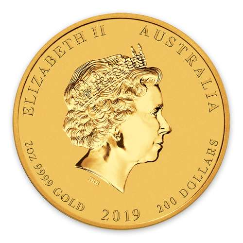 2019 2oz  Australian Perth Mint Gold Lunar Year of the Pig