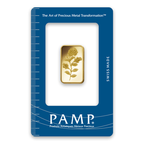 1/4oz PAMP Gold Bar - Rosa
