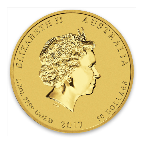 2017 1/2oz Australian Perth Mint Gold Lunar II: Year of the Rooster