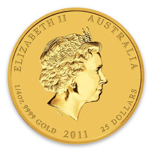 2011 1/4oz Australian Perth Mint Gold Lunar II: Year of the Rabbit