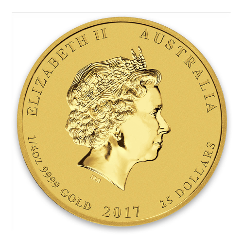 2017 1/4oz Australian Perth Mint Gold Lunar II: Year of the Rooster
