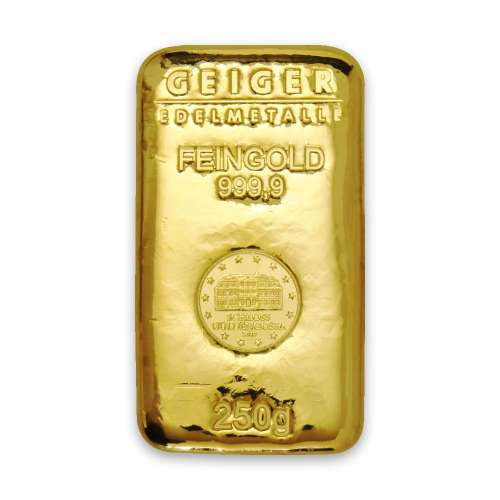 250g Schloss Güldengossa Cast Gold Bar