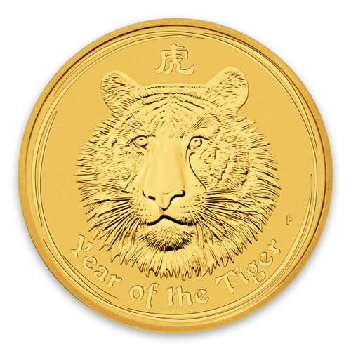 2010 1oz Australian Perth Mint Gold Lunar II: Year of the Tiger