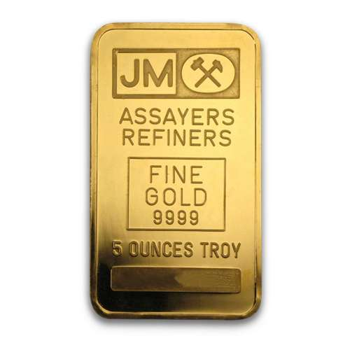 5oz Johnson Matthey Gold Bar