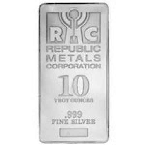 10oz Republic Metals Silver Bar