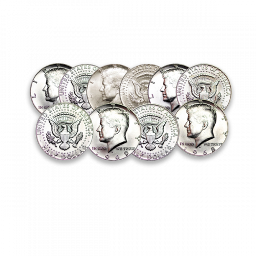 US 40% Silver Coinage - Kennedy Halves 65-69 - Junk Silver