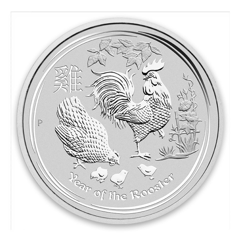 2017 10kg Australian Perth Mint Silver Lunar II: Year of the Rooster