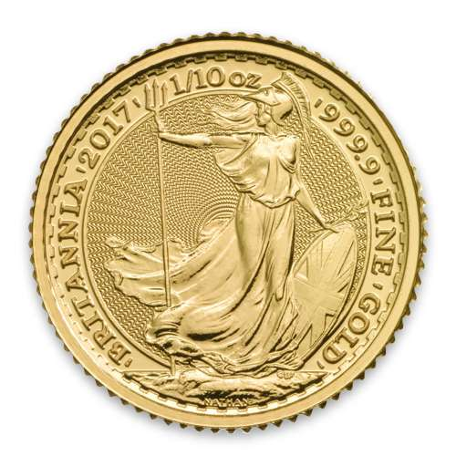 2017 1/10oz British Gold Britannia