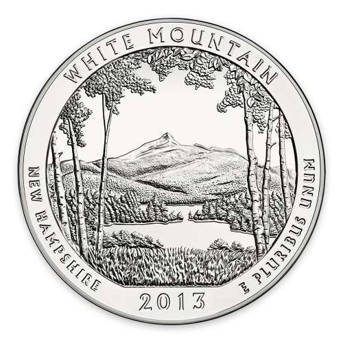 2013 5 oz Silver  America the Beautiful White Mountain National Park