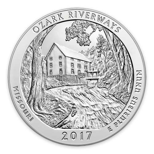 2017 5 oz  Silver America the Beautiful Ozark National Scenic Riverways
