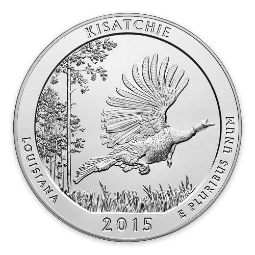 2015 5 oz Silver America the Beautiful Kisatchie National Forest