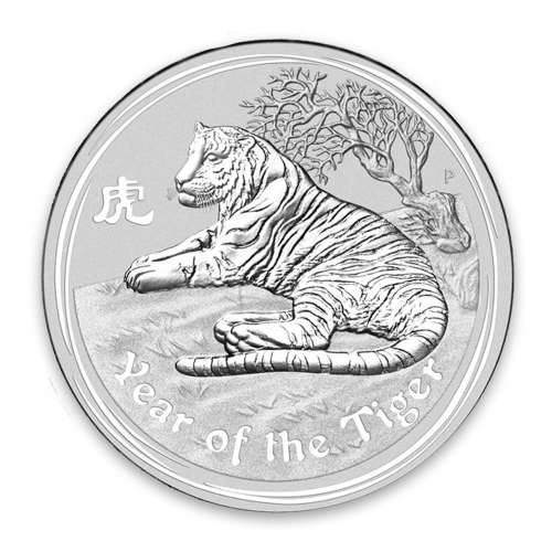 2010 1/2oz Australian Perth Mint Silver Lunar II: Year of the Tiger