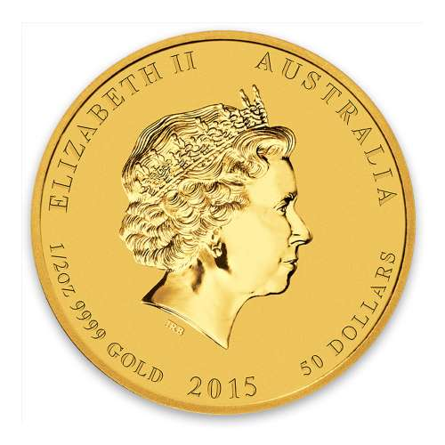 2015 1/2oz Australian Perth Mint Gold Lunar II: Year of the Goat