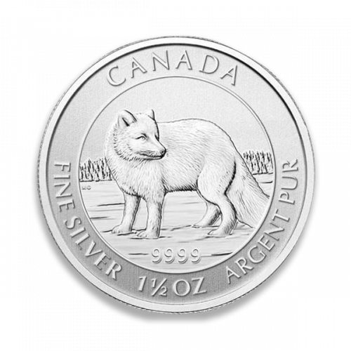 2014 1.5oz Canadian Silver Wildlife Series - Arctic Fox