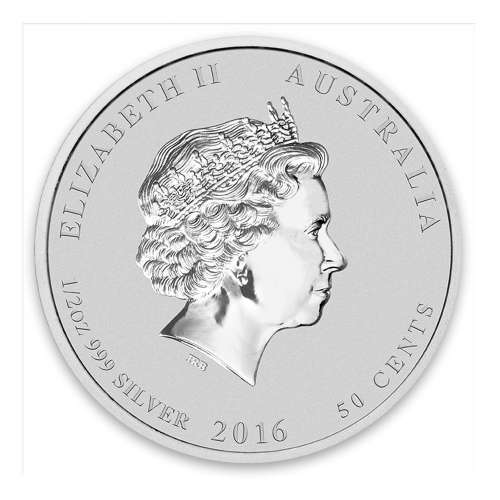 2016 1/2oz Australian Perth Mint Silver Lunar II: Year of the Monkey