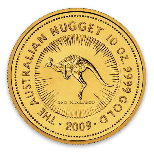 2009 10oz Bullion Nugget / Kangaroo Coin
