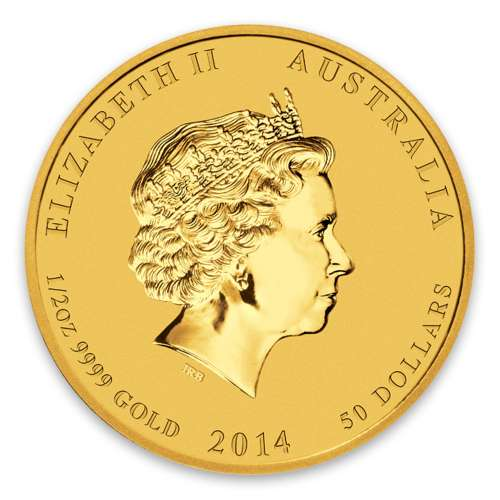 2014 1/2oz Australian Perth Mint Gold Lunar II: Year of the Horse