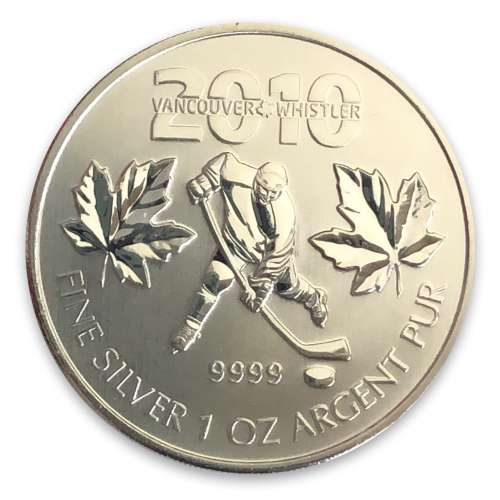 2010 1oz Canadian Silver Maple Leaf Vancouver Olympics