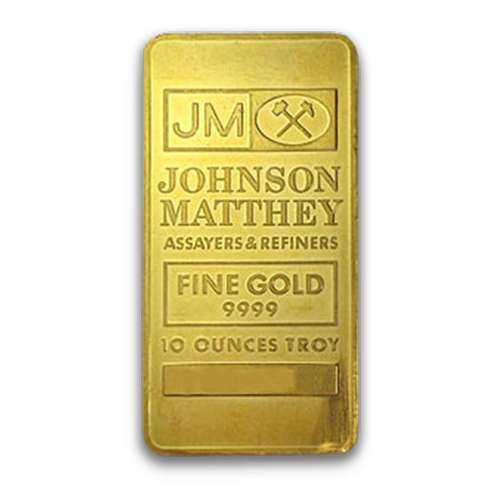 10oz Johnson Matthey Gold Bar