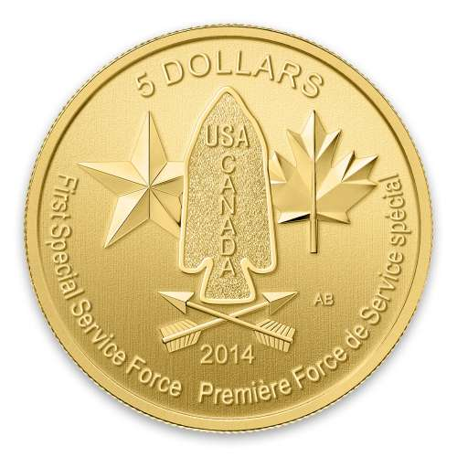 2014 1/10 oz Canadian Devil's Brigade Gold Coin