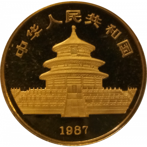 1987 1/2oz Chinese Gold Panda
