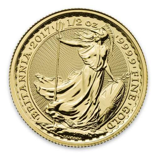 Any Year 1/2oz British Gold Britannia - 9999 (2013-present)