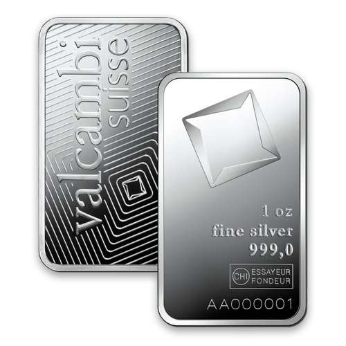 1oz Valcambi Minted Silver Bar