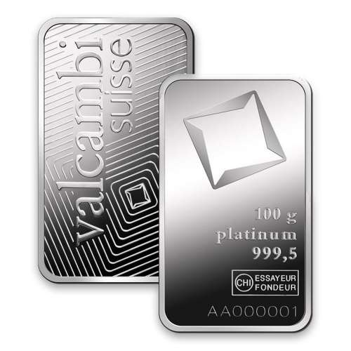 100g Valcambi Minted Platinum Bar