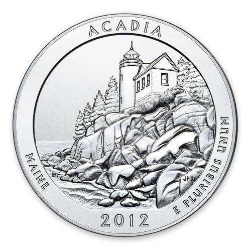 2012 5 oz Silver America the Beautiful Acadia National Park