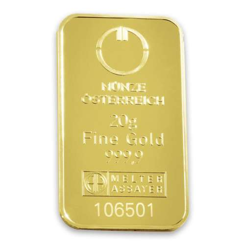 20g Austrian Mint Gold Bar