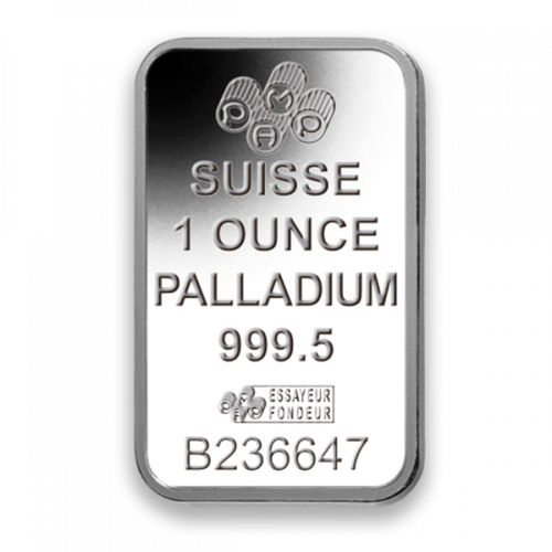 1oz PAMP Palladium Bar - Fortuna