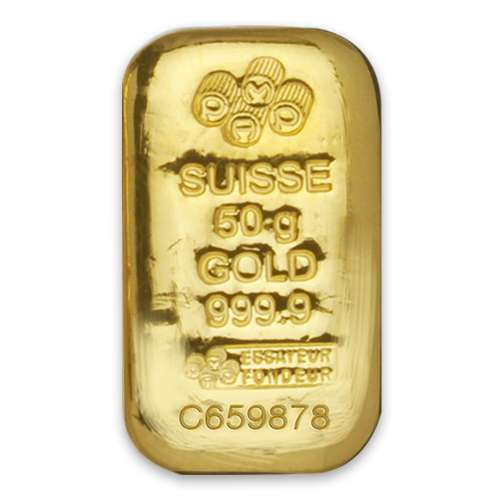 50g PAMP Gold Bar Cast
