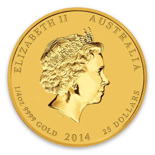 2014 1/4oz Australian Perth Mint Gold Lunar II: Year of the Horse