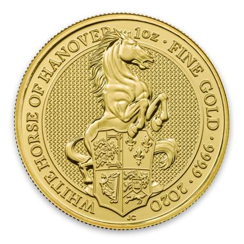 2020 1oz Gold Britain Queen's Beast: The White Horse