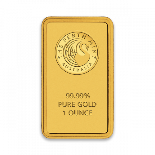 1oz Australian Perth Mint gold bar - minted