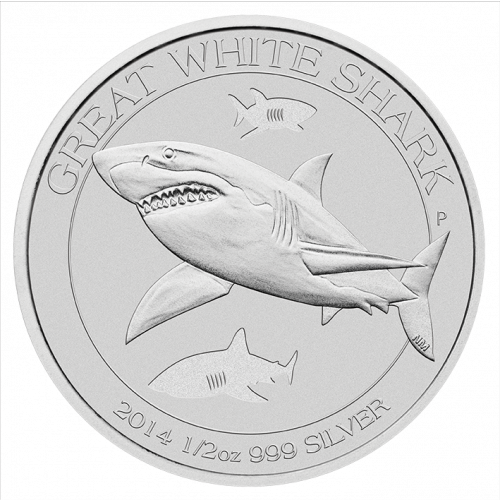 2014 1/2oz Perth Mint Silver Australian Great White Shark